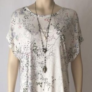 Dresses & Skirts - New Floral Tshirt Dress with Side Ruching